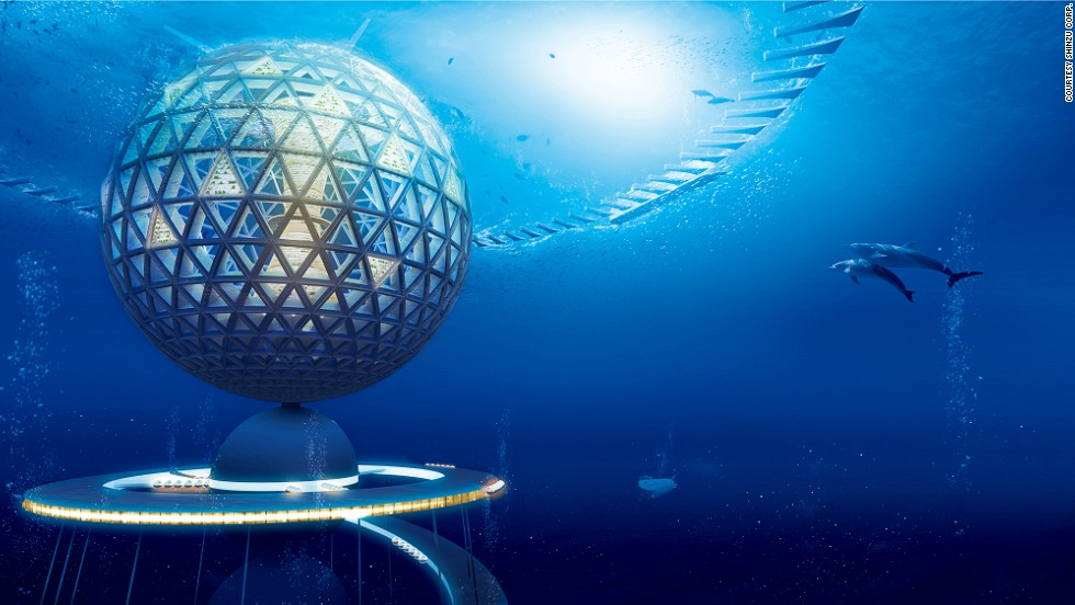 Divided into three distinctive zones, the structure will stretch all the way to the crushing black depths 2.8 miles under the sea.<br /><br />A giant sphere with a diameter 500 meters (1,640 feet) situated just below the surface will form the first section and house residential zones, businesses and hotels. <br /><br />Residents and visitors will enter via the upper level of the facility here.
