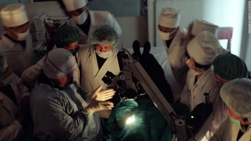 Dr. Sanduk Ruit conducts a surgical training workshop with North Korean eye surgeons in Pyongyang, North Korea.