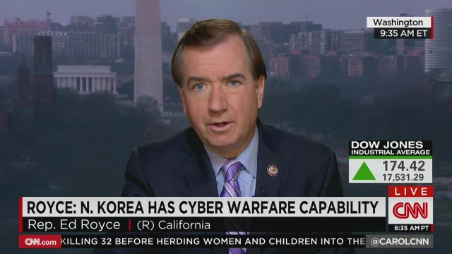 Rep. Ed Royce slams Sony decision