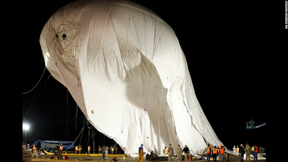 The aerostats carry technology that will almost double the reach of current ground radar detection, officials said.