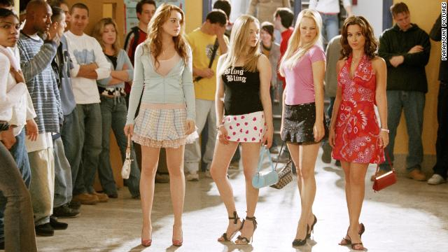 Still of Lacey Chabert, Lindsay Lohan, Rachel McAdams and Amanda Seyfried in Mean Girls (2004)  paramount