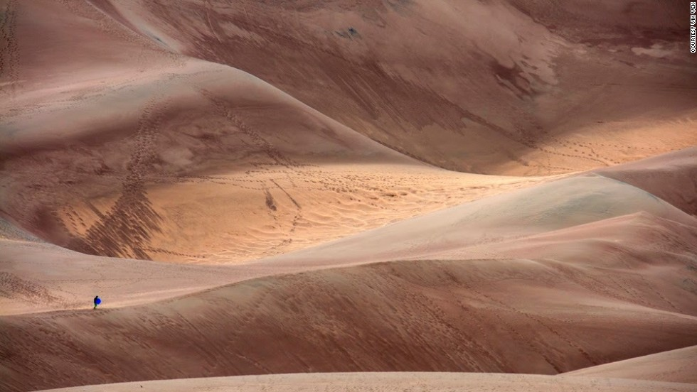 "The <a href=""http://www.nps.gov/grsa/index.htm"" target=""_blank"">tallest sand dunes</a> in North America can be found at <a href=""http://ireport.cnn.com/docs/DOC-1169347"">Great Sand Dunes National Park</a> located in the San Luis Valley, Colorado."