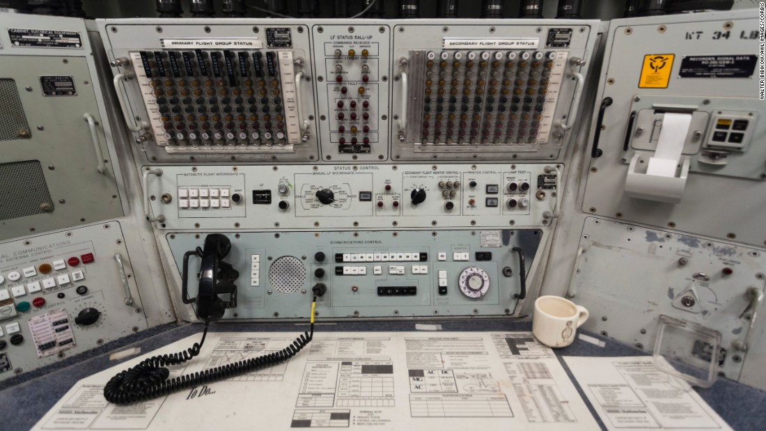 The underground console at the Ronald Reagan Minuteman missile site's ICBM missile launch center was ready for war.