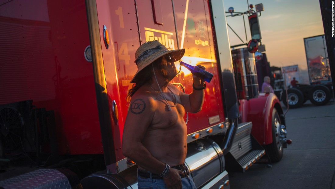 Crack open a cold one at the Iowa 80's Truckers Jamboree.