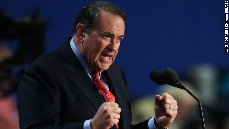 Former Arkansas Gov. Mike Huckabee speaks during the third day of the Republican National Convention at the Tampa Bay Times Forum on August 29, 2012 in Tampa, Florida.