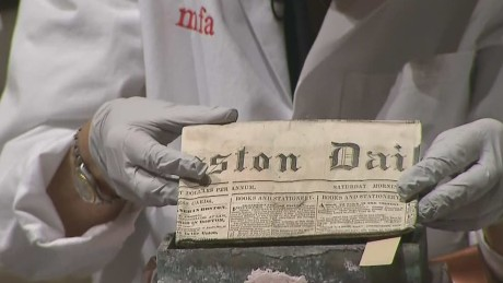 Newspaper uncovered in 18th century time capsule