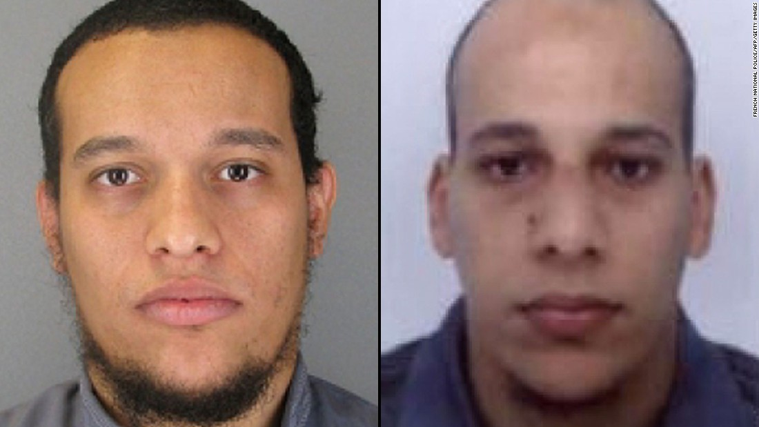 "French authorities released photographs of the<a href=""http://www.cnn.com/2015/01/08/europe/paris-charlie-hebdo-shooting-suspects/index.html"" target=""_blank""> </a>Kouachi brothers, warning that both could be armed and dangerous. A third suspect, Hamyd Mourad, surrendered to police earlier this week, according to the news agency Agence France-Presse."