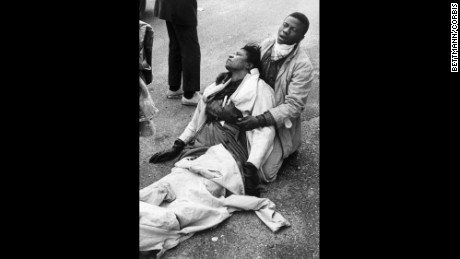 This photo of Boynton Robinson, beaten unconscious by state troopers, became an iconic image of Bloody Sunday.