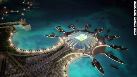 Money is no issue in the planning for Qatar#39;s 2022 World Cup Doha Port stadium.