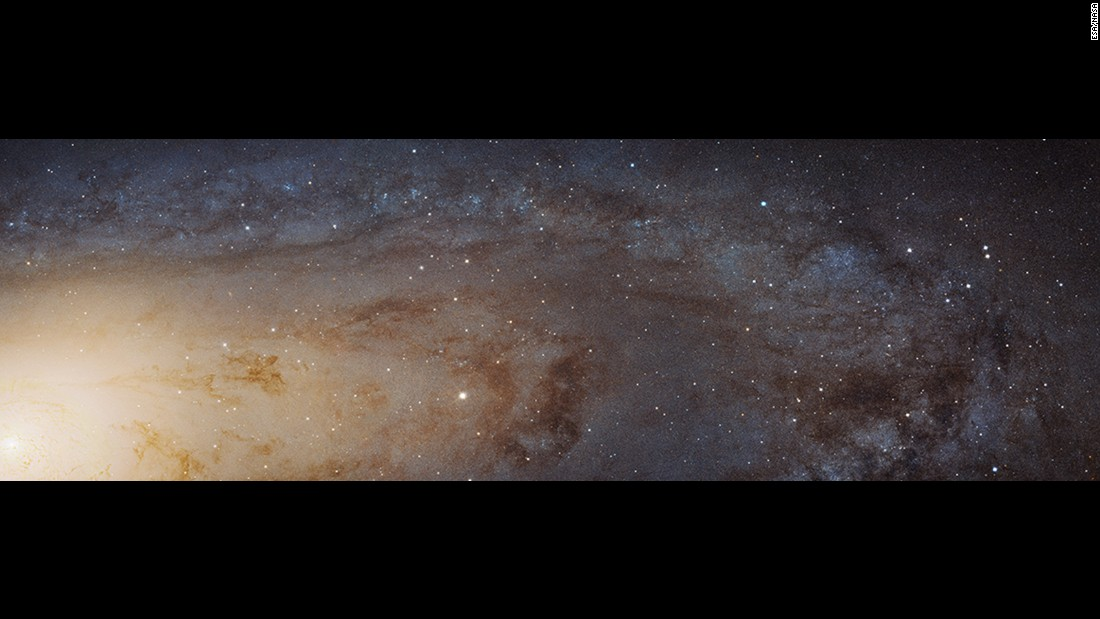 This is the largest Hubble Space Telescope image ever assembled. It's a portion of the galaxy next door, Andromeda (M31).
