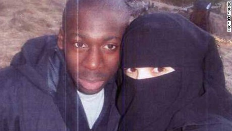 The French newspaper Le Monde claims this is a 2010 photo of Amedy Coulibaly and Hayat Boumeddiene. CNN has not independently confirmed its authenticity.