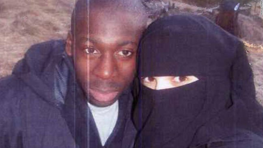 The French newspaper Le Monde says this is a 2010 photo of Hayat Boumeddiene and Amedy Coulibaly.