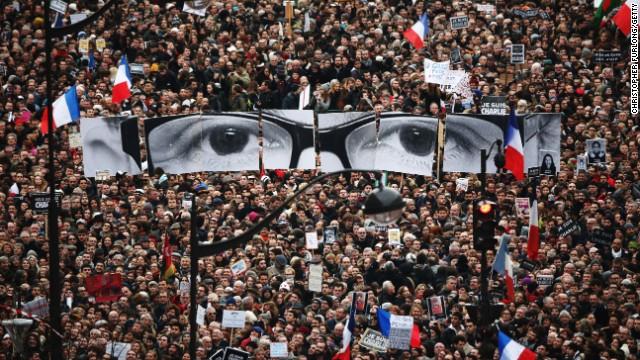 3,7 millones marchan en Francia contra el terror, la mayor manifestación de la historia francesa