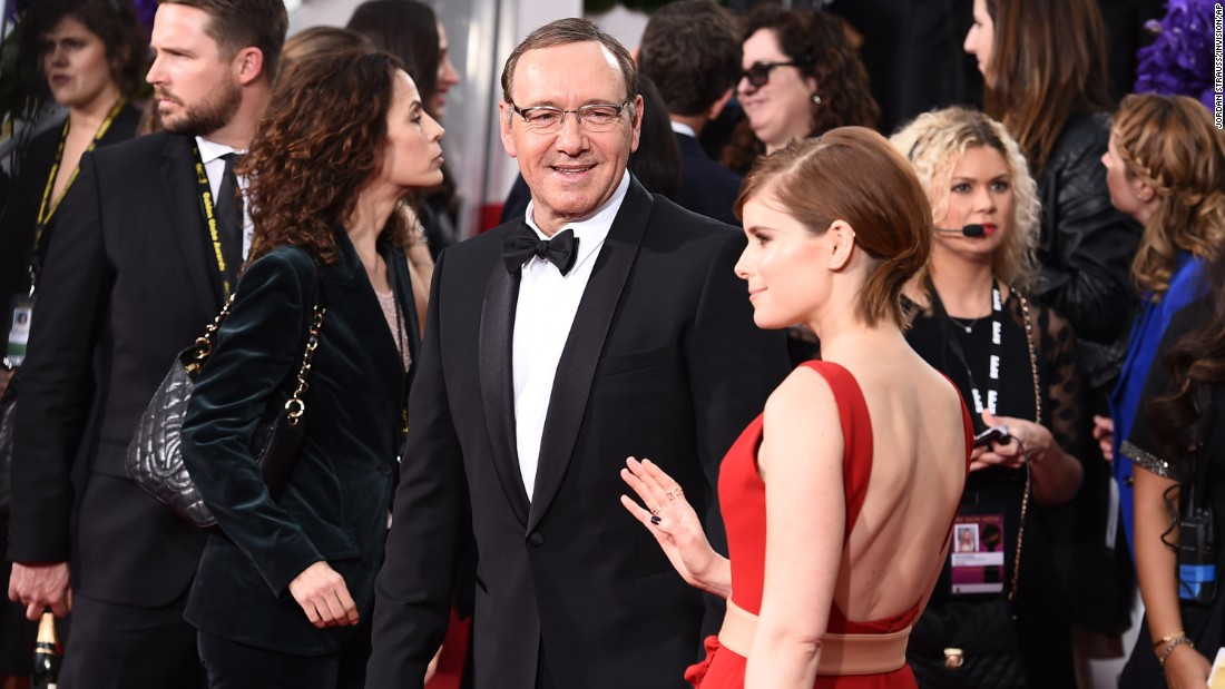 Kevin Spacey and Kate Mara