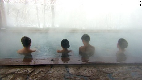 If the soothing onsen doesn't make them relax, there's always the view.