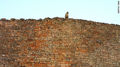 Monkeys are often the only other visitors to the ruins.