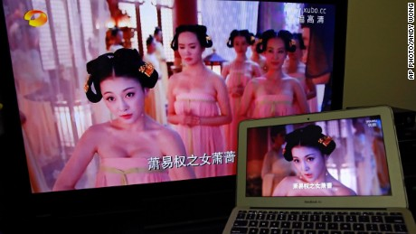 "The TV show ""The Empress of China"" depicted the life of the only woman to rule China. Her reign was during the seventh century Tang dynasty -- when an ample female bosom was the prevailing aesthetic  When the series returned to air, the cleavage was gone. Instead, viewers saw crudely edited scenes where women were only shown in close-up to avoid revealing their chests."