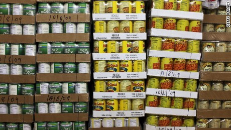 Students to fight school shooters with canned goods?