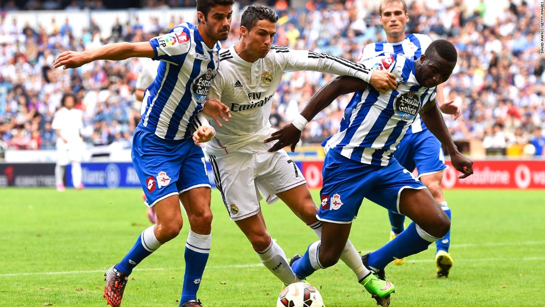September 20: Ronaldo scores his 20th La Liga hat trick in Madrid's 8-1 demolition of Deportivo La Coruna.
