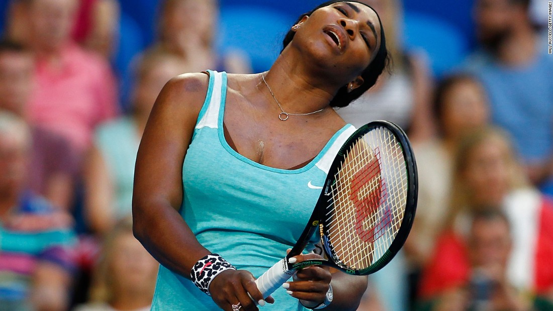 Williams looks crestfallen as she reflects on a point that got away.