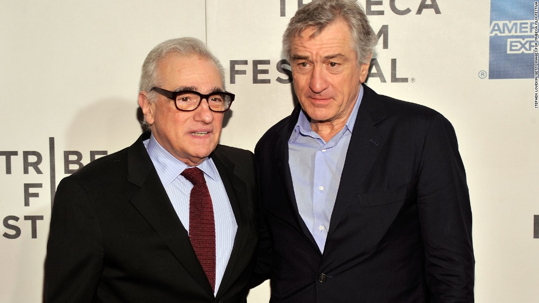 Frequent collaborators Martin Scorsese (L) and Robert De Niro (R), seen here at the 2013 Tribeca Film Festival, have worked together again on a short film promoting a Macanese casino.