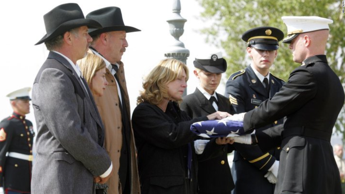 "Based on a true story, ""Taking Chance"" starred Kevin Bacon as a lieutenant colonel escorting the body of a fallen Marine back to his hometown. The drama aired on HBO in 2009."