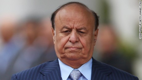 Caption:BERLIN, GERMANY - OCTOBER 04: Abdrabuh Mansur Hadi, President of the Republic of Yemen, arrives at the Chancellery to meet with German Chancellor Angela Merkel on October 4, 2012 in Berlin, Germany. President Hadi succeeds former Yemeni President Ali Abdullah Saleh following bloody uprisings in Yemen months ago. (Photo by Sean Gallup/Getty Images)
