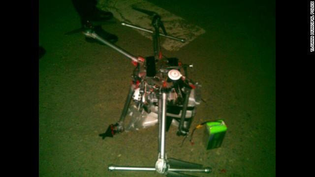 Un drone con 3 kilos de metanfetaminas cayó en Tijuana, México