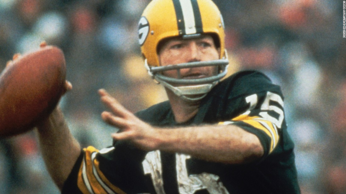 Green Bay Packers quarterback Bart Starr was named the Most Valuable Player of the first Super Bowl, which in January 1967 was just called the AFL-NFL World Championship Game. Starr threw for 250 yards and two touchdowns as the Packers defeated Kansas City 35-10 at the Los Angeles Memorial Coliseum.