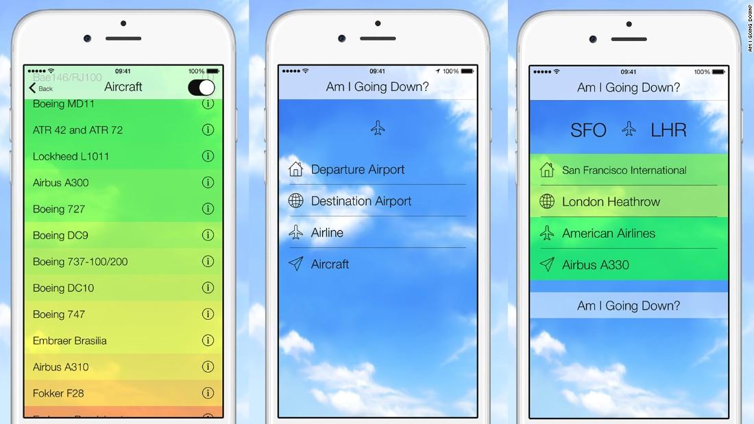 Una nueva aplicación analiza las probabilidades de que tu vuelo se estrelle