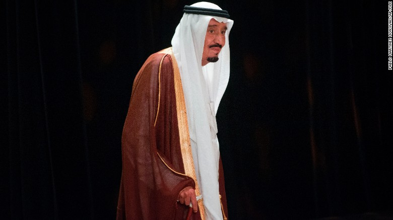 FILE- In this Nov. 15, 2014, file photo, Saudi Arabia's Crown Prince Salman bin Abdul-Aziz Al Saud walks to his seat to join other world leaders to watch a cultural performance of indigenous dancers at the G20 in Brisbane, Australia. On early Friday, Jan. 23, 2015, Saudi state TV reported King Abdullah died at the age of 90. Saudi Arabia's new king, Salman, is a veteran of the country's top leadership. (AP Photo/Pablo Martinez Monsivais, File)