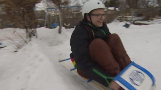dad builds backyard luge track cnn video