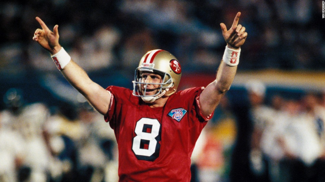 Quarterback Steve Young threw six touchdowns passes -- a Super Bowl record -- as his San Francisco 49ers blew out San Diego 49-26 in January 1995. Look back at more Super Bowl records, including the greatest games, the greatest plays and the greatest winners.