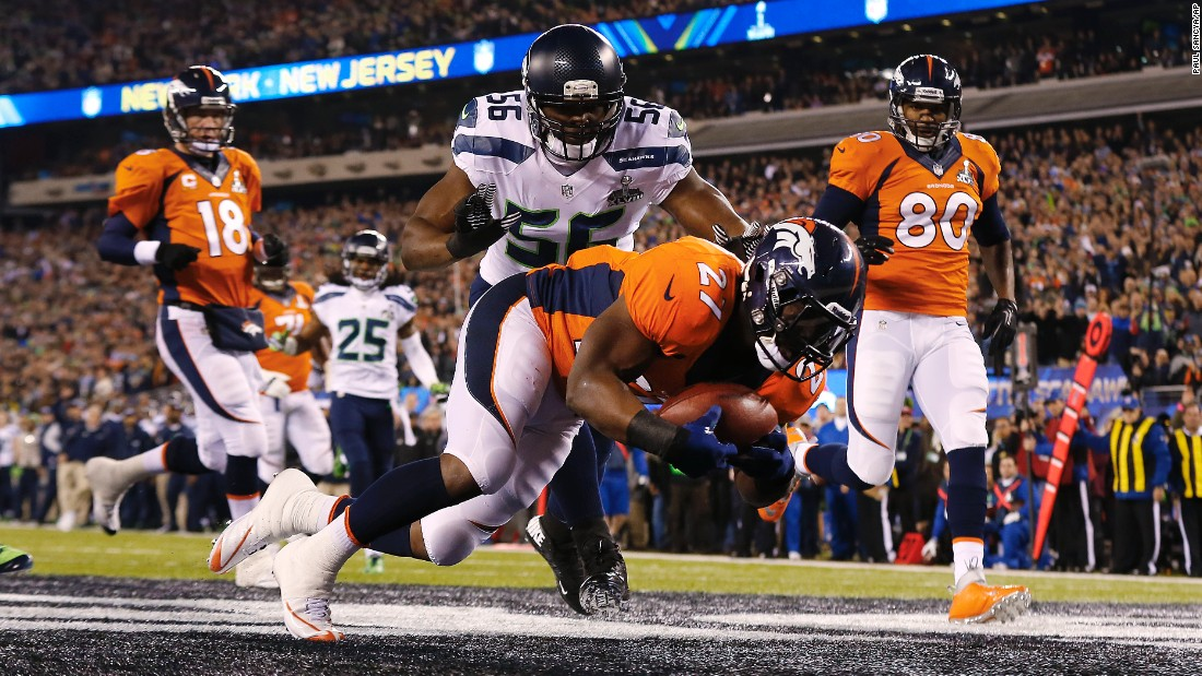 On the first play from scrimmage in last year's Super Bowl, Denver center Manny Ramirez snapped the ball past quarterback Peyton Manning. Denver's Knowshon Moreno recovered the ball in the end zone for a Seattle safety. Only 12 seconds had elapsed.
