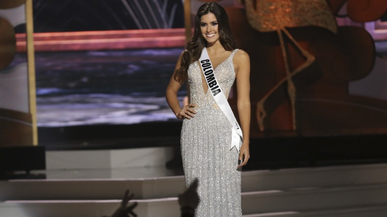 Paulina Vega during the evening gown competition at the Miss Universe 2014 final.