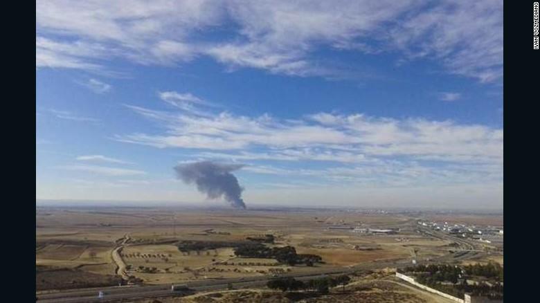 Accidente de avión F-16 en España deja 10 muertos y 13 heridos