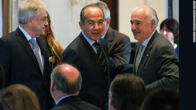 Piñera, Calderón y Pastrana respaldan a la oposición venezolana