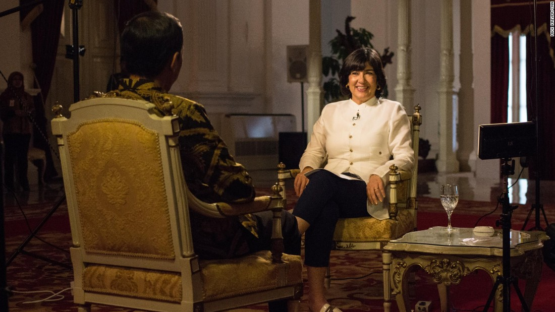 The President and Amanpour sat down for an interview at the Merdeka Presidential Palace, a vestige of the country's time as a Dutch colony.