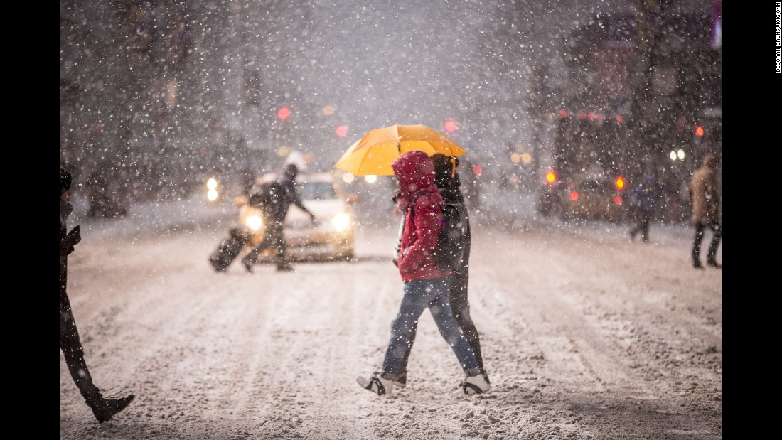 """NEW YORK: A historic storm slams the U.S. Northeast, with heavy snowfall hitting the region. CNN's Deborah Brunswick snapped this shot while out covering the blizzard in NYC on January 26.<br />Follow <a href=""""http://instagram.com/debrunswick"""" target=""""_blank"""">@debrunswick</a> and other CNNers on the <a href=""""http://instagram.com/cnnscenes"""" target=""""_blank"""">@cnnscenes</a> gallery on Instagram for more images you don't always see on news reports from our teams around the world."""