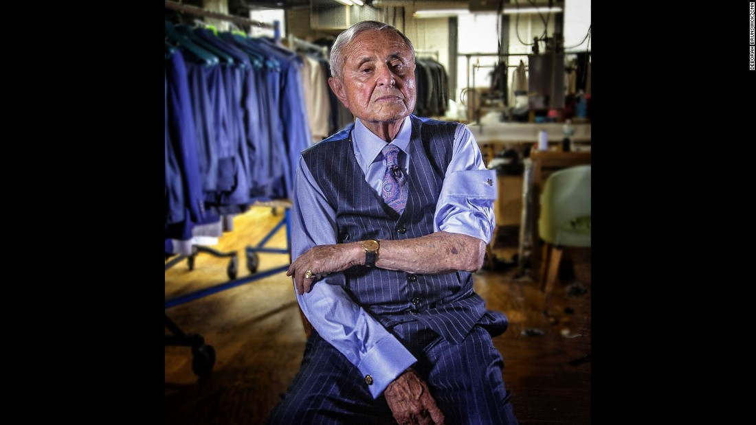 """NEW YORK: """"Before we were separated at Auschwitz, my father said 'if we don't survive, honor us by living, not by crying.' Today I'm the happiest man in America."""" - Martin Greenfield, 86, grandfather, tailor, business owner, Holocaust survivor. Photo by CNN's Deborah Brunswick.<br />Follow <a href=""""http://instagram.com/debrunswick"""" target=""""_blank"""">@debrunswick</a> and other CNNers on the <a href=""""http://instagram.com/cnnscenes"""" target=""""_blank"""">@cnnscenes</a> gallery on Instagram for more images you don't always see on news reports from our teams around the world."""