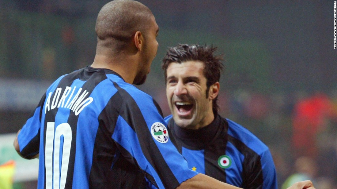 In 2005, Figo moved to Italy to join Inter Milan, winning four successive Serie A titles, one Italian Cup and three Italian Super Cups before retiring in 2009.