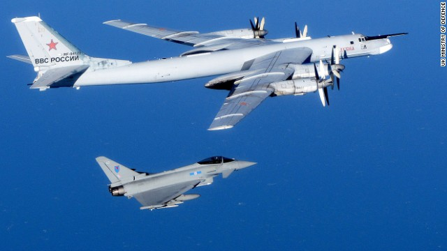 Reino Unido intercepta aviones rusos