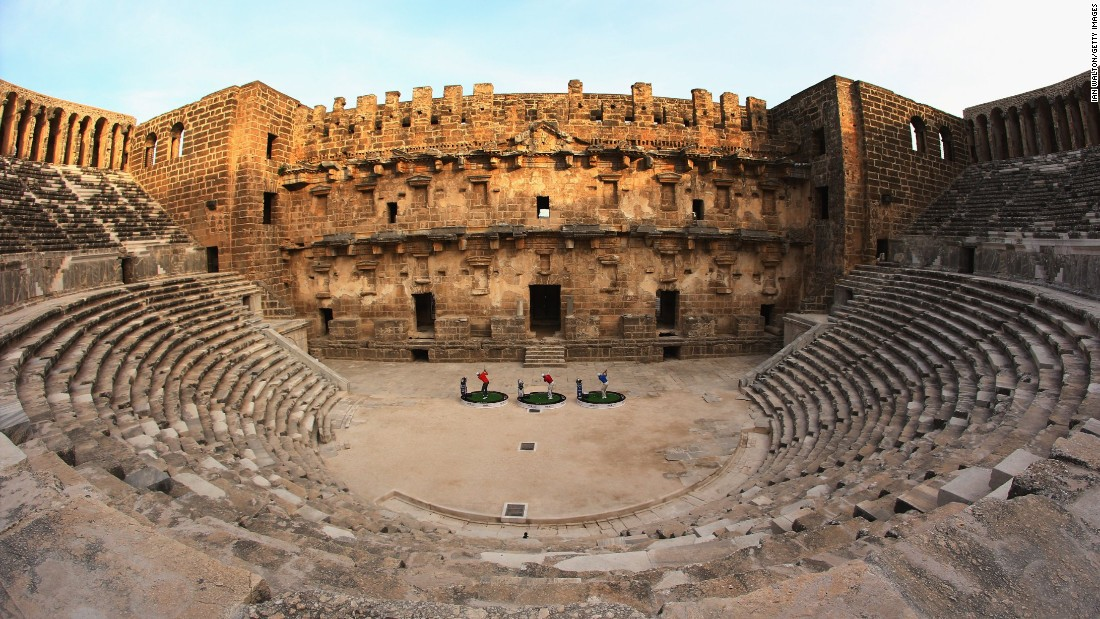 Antalya, a Mediterranean resort town in southwest Turkey, saw 11.5 million international arrivals in 2014. Antalya is a magnet for Russian visitors. The ancient amphitheater of Aspendos is about an hour east of the city in Antalya province.