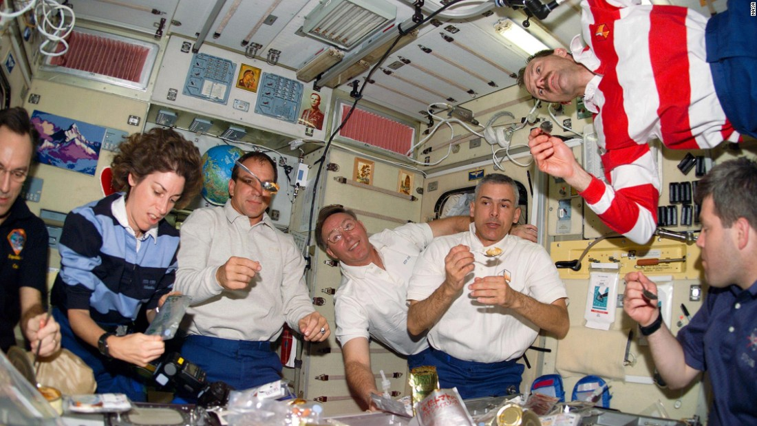 astronauts eating almonds in space - photo #33