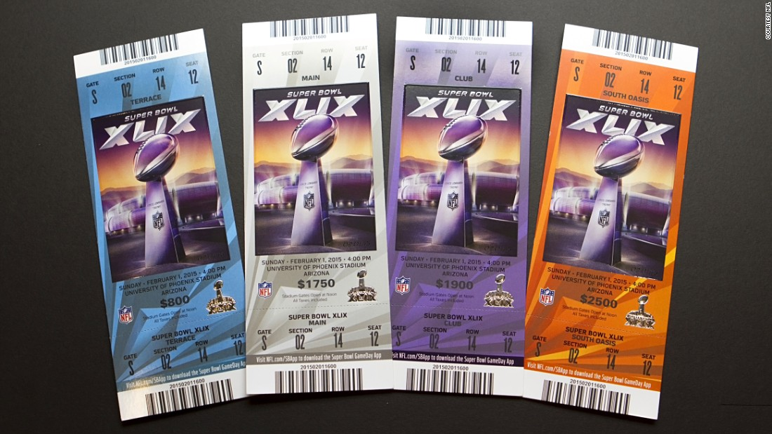 Tickets for Super Bowl XLIX.