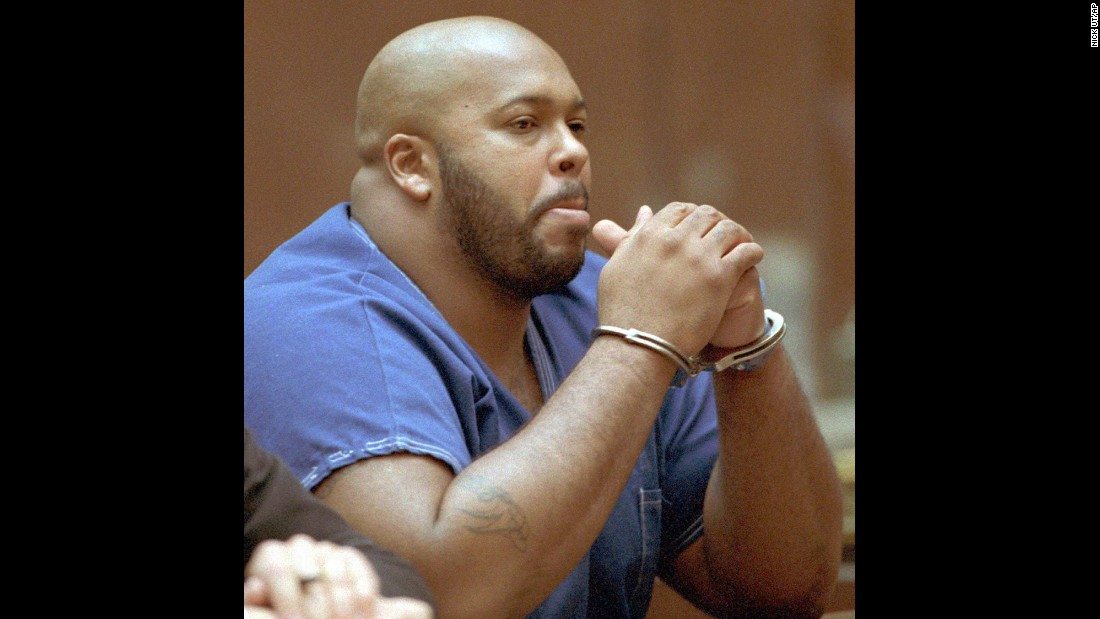 Knight appears in court for a bail review hearing in October 1996. That year, Knight was sent to prison for almost five years for assaulting a man in a Las Vegas hotel.