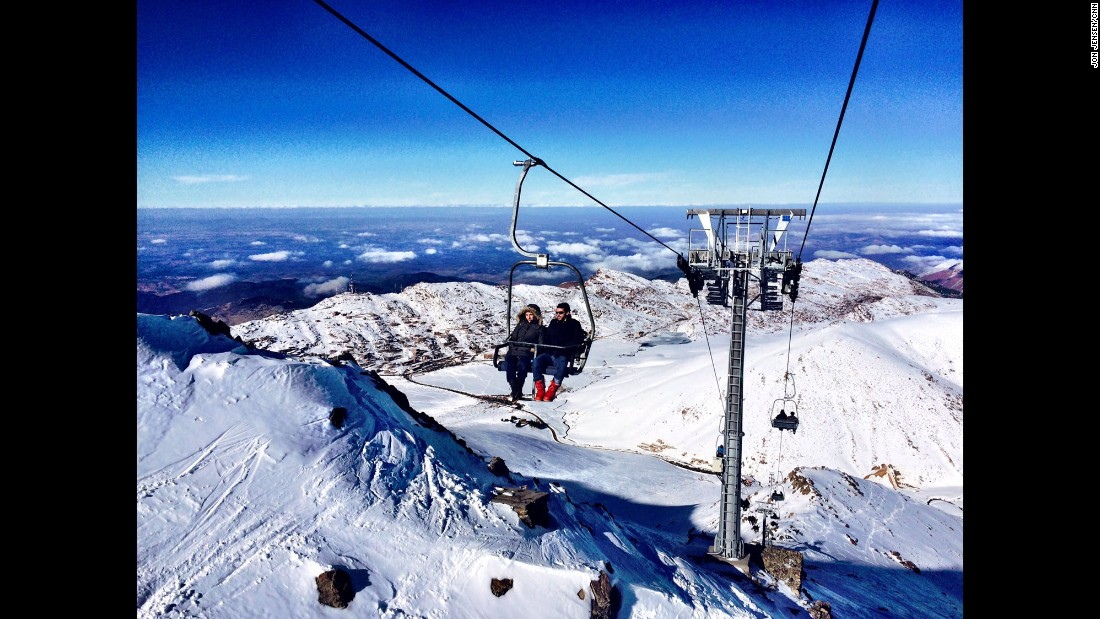 """MOROCCO: """"Tourists riding to the top of Oukaimeden, Africa's tallest ski resort. The chairlift rises to 3,258 meters and you can see Marrakech in the distance."""" - CNN's Jon Jensen.<br />Follow <a href=""""http://instagram.com/jonjensencnn"""" target=""""_blank"""">@jonjensencnn</a> and other CNNers on the <a href=""""http://instagram.com/cnnscenes"""" target=""""_blank"""">@cnnscenes</a> gallery on Instagram for more images you don't always see on news reports from our teams around the world."""