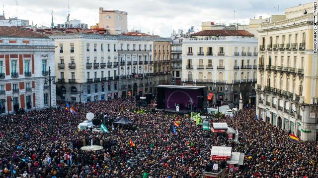 Decenas de miles de personas marchan en Madrid contra la austeridad