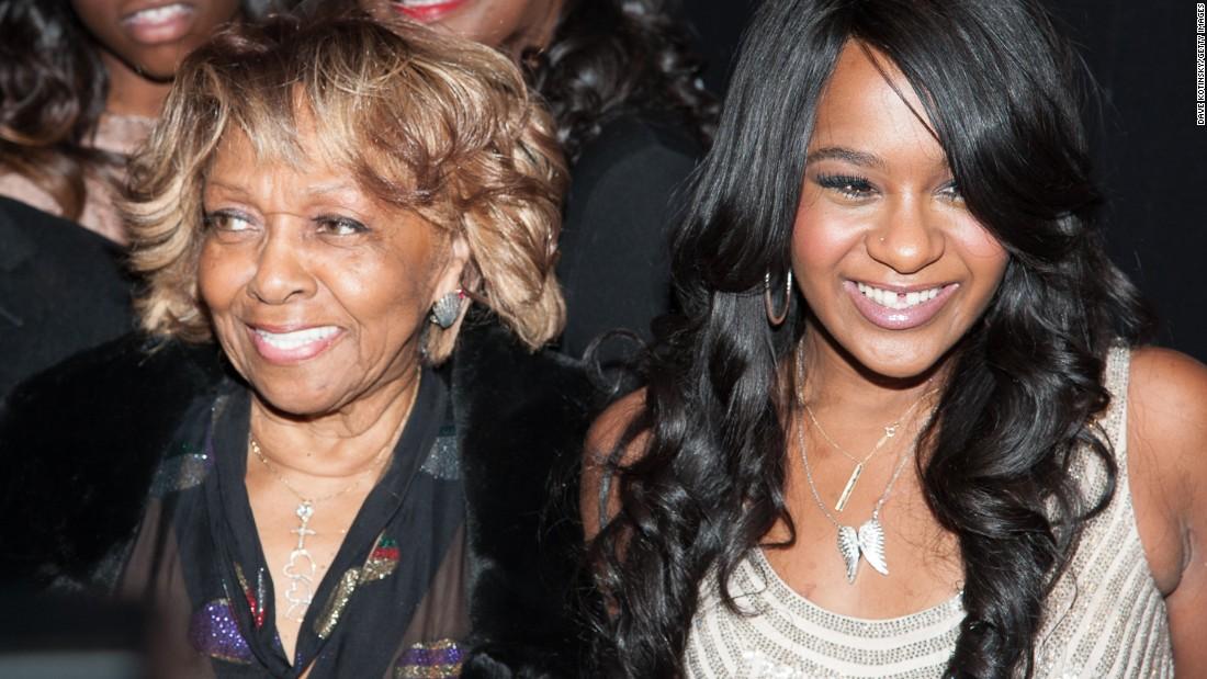 Bobbi kristina and her grandmother cissy houston attend a premiere