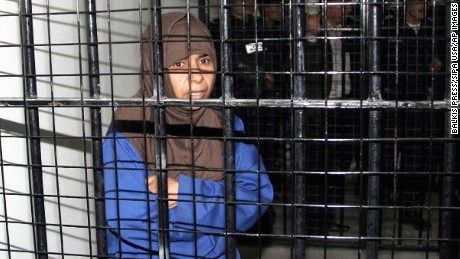 "File photo dated 2006 of Iraqi terrorist Sajeda Mubarak Atrous Al Rishawi during her trial in Amman, Jordan. Sajida Mubarak Atrous al-Rishawi, who is in her 40s, is a failed suicide bomber who conspired with her husband to wear bomb belts packed with ball bearings to destruct themselves and others at a wedding reception in the Radisson SAS hotel in Amman in November 2005. The family of the Japanese hostage Kenji Goto Jogo received an audio message, which purportedly hears him saying that he will not be killed if al-Rishawi is released by Jordanian authorities. A photo released alongside the recording claimed to show that his ""cellmate"" Haruna Yakuwa, another Japanese national, had been decapitated by Isis .Photo by Balkis Press/Sipa USA (Sipa via AP Images)"